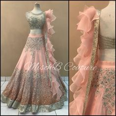 33 Ideas for bridal couture details wedding gowns Indian Wedding Gowns, Indian Gowns Dresses, Indian Fashion Dresses, Indian Designer Outfits, Pakistani Dresses, Indian Outfits, Designer Dresses, Fashion Outfits, Party Wear Lehenga