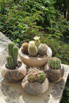 ceramica artesanal macetas de cactus