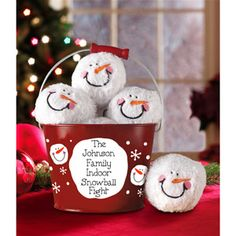 Personalized Family Indoor Snowball Fight - This is super cute!