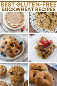Looking for buckwheat recipes? These buckwheat recipes are all easy-to-make and naturally gluten-free! Use them to make delicious buckwheat pancakes, waffles, crepes, cookies, bagels, or muffins. Best Gluten Free Recipes, Gluten Free Recipes For Dinner, Easy Bread Recipes, Gluten Free Snacks, Gluten Free Baking, Baking Recipes, Dessert Recipes, Muffin Recipes, Healthy Recipes