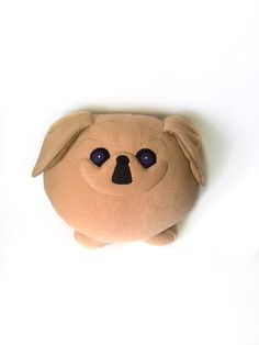 Stuffed toy Pekingese dog by PillowsRollanda - I love this seller, I requested her pekingese pillow for christmas and it is so cute and well made! #pekingese #pekingesedecor #pekes