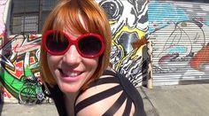 Redhead  with Graffiti