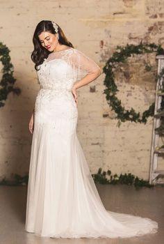 Plus Size Gowns, Wedding Dresses Plus Size, Plus Size Wedding, Bridal Dresses, Gatsby Wedding Dress, Cheap Wedding Dress, Wedding Gowns, Art Deco Wedding Dress, Lace Wedding