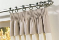 + Curtain heading with attached valance +