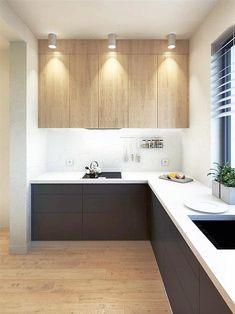 Projekt domu Malutki dr-S 79,48 m2 - koszt budowy 199 tys. zł - EXTRADOM Modern Barn House, Scandinavian Style, Double Vanity, Kitchen Cabinets, Construction, House Design, Home Decor, Offices, Xmas