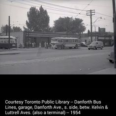 Danforth Bus Lines Back In Time, Past, Toronto, Canada, Urban, History, Outdoor, Vintage, Birds