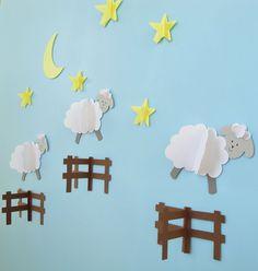 Moutons sautant clôtures 3D Wall Decals/mur/Wall par goshandgolly, $25.00