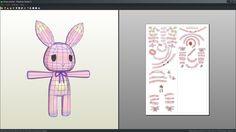 Bunny rabbit plushie papercraft unfold by Antyyy.deviantart.com on @DeviantArt