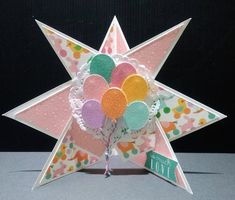 Hey Baby Star Shaped Easel Card | Craft Inspiration