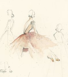 Gowns washed in the delicacy of watercolours: the glamorous artwork of Katie Rodgers....