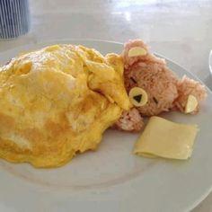 foodart-ours-riz-omelette