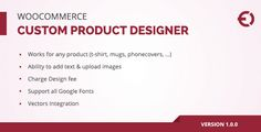 Download Nulled Woocommerce Custom Product Designer for T-Shirt Cup Caps Cards For Free