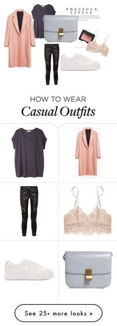 """casual date outfit"" by zahirovic on Polyvore featuring Agent Provocateur, Tsumori Chisato, Zara, NARS Cosmetics, Givenchy, Eytys, Leather, casualoutfit, CasualChic and pastels"