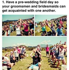 Field day fun for bridesmaids and groomsmen