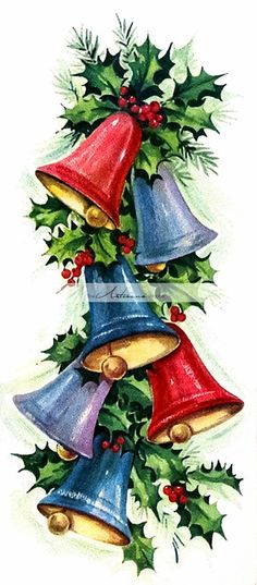 40 Beautiful Christmas Painting Ideas to Try This Season - Page 3 of 3 - Bored Art Christmas Scenes, Noel Christmas, Vintage Christmas Cards, Retro Christmas, Vintage Holiday, Christmas Pictures, Xmas Cards, Christmas Greetings, All Things Christmas