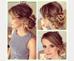 soft curly wedding updo - love this! ~ we ❤ this! moncheribridals.com