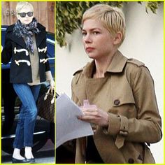 michelle williams outfits | Michelle Williams Mid-day Outfit Change