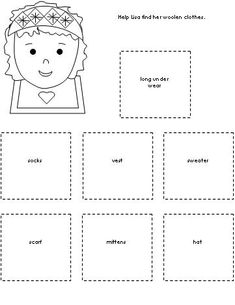 worksheet for the book The Hat by Jan Brett From Making Learning Fun