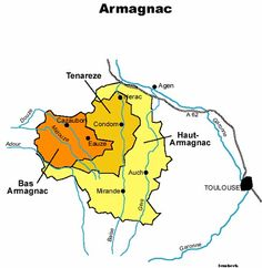 Armagnac Wine Region Map