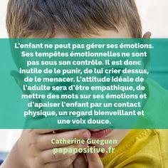 Le cerveau de l'enfant est immature. Ce fait est d'autant plus important car il est la clé de leur comportement et de leur épanouissement. Voici les explications de Catherine Gueguen. Catherine Gueguen, Education Positive, Important, Coaching, Preschool, Parents, Voici, Positivity, Messages
