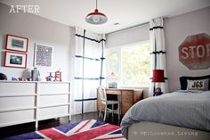 We love that cool Union Jack rug.