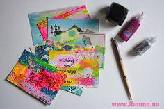 Handmade Postcards by @ihanna for the DIY Postcard Swap #diyPostcardSwap