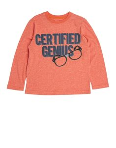 'Genius' Slogan T-Shirt Graphic Sweatshirt, T Shirt, Little Boys, Slogan, To My Daughter, Sweatshirts, Sweaters, Clothes, Fashion