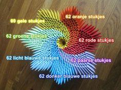 3d origami regenboog bakje