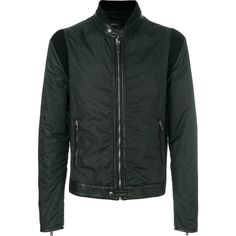 Dolce & Gabbana ruched stitched jacket (5.125 BRL) ❤ liked on Polyvore featuring men's fashion, men's clothing, men's outerwear, men's jackets, green, mens collared jacket and mens green jacket