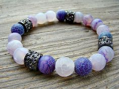 Shop for on Etsy, the place to express your creativity through the buying and selling of handmade and vintage goods. Jewelry Ideas, Diy Jewelry, Jewelery, Unique Jewelry, Agate Gemstone, Gemstone Jewelry, Stretch Bracelets, Beaded Bracelets, Silver Shop