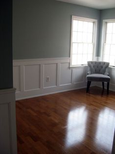 Dining room and/or replace beadboard upstairs with this type of wainscoting in upstairs hall/landing. #WainscotingStyles #WainscotingIdeasBeadboard