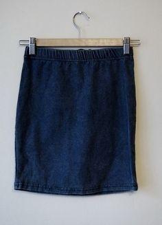 prosta jeansowa spódniczka