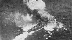 JAPANESE CONVOY UNDER ATTACK in Ormoc Bay. A destroyer escort is blown apart by a direct hit