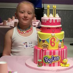 Rylee's Shopkins birthday cake! For a girl who loves Shopkins, this cake is perfect