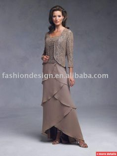 mother of bride long sleeve long dresse   long sleeves chiffon embroidered beaded Mother of brides dresses ...