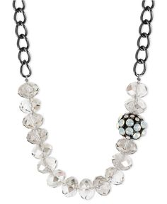 Kenneth Cole: Multi-Tone Faceted Bead Necklace