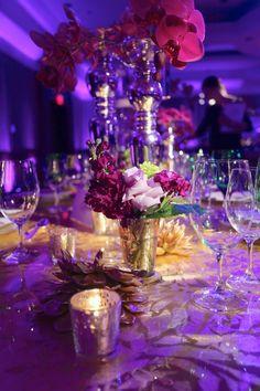 Purple Wedding Centerpieces via EVOKE DC www.evokedc.com www.evokedcblog.com Dominique Fierro Photography