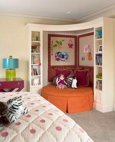 teen room cozy corner with oversize ottoman