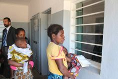 Mother's with infants wait in line at the Nandumbo Health Centre and Maternity Ward #HealthCentre #HELPchildren #Malawi #Africa #Mother #Infant