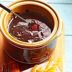 Spiked Chocolate Fondue