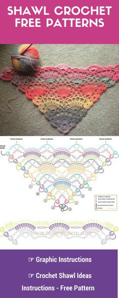 Crochet pattern for a shawl.