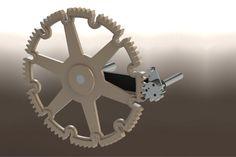Intermittent Gearing Mechanism - STEP / IGES,STL,SOLIDWORKS - 3D CAD model - GrabCAD