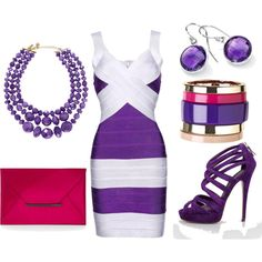 """""""Purple, White & Pink Outfit"""" by kekek on Polyvore #outfit #look #style"""