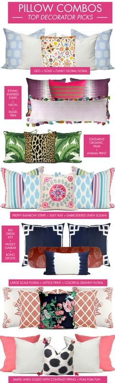Almofadas top decorator pillow combos - mix it up!