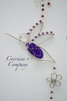 Wire Birds, Wire Bird Sun-Catcher, Bird Suncatchers, Agate Stone Bird, Artistic Wire Birds