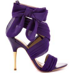 b45cf3ccc76 Paris Hilton Selene - Purple Chiffon ( 95) ❤ liked on Polyvore Purple Heels