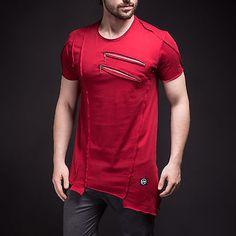 Asymmetric Cut Men's T-Shirt Two Chest Zipper Fashion Stylish Slim Fit Tee 2287 | Ropa, calzado y accesorios, Ropa para hombre, Camisetas | eBay!