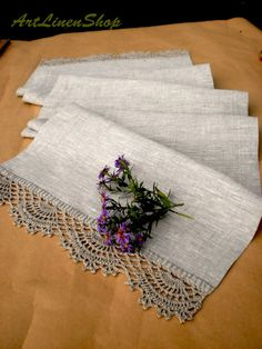 Linen table runner Birthday tablecloth crochet Lace table runner Lace tablecloth Rustic table runner Shabby chic linens Linen tablecloth - Table Runner Decor Country Chic Kitchen Decorations Housewarming Gift for Woman Linen Tablecloth Cr - Crochet Table Runner, Crochet Tablecloth, Linen Tablecloth, Shabby Chic Kitchen Table, Country Chic Kitchen, Country Decor, Centerpiece Decorations, Decoration Table, Kitchen Decorations