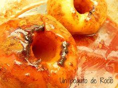 UN POQUITO DE ROCIO: MANZANAS ASADAS EN MICROONDAS Mini Quiches, Mini Pizzas, Empanadas, Relleno, Bagel, Fondant, Cheese, Apple, Fruit