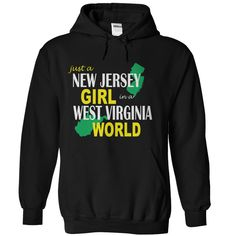 New Jersey Girl in West Virginia T-Shirts, Hoodies. BUY IT NOW ==►…